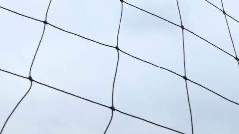 Soccer ball hitting net slo mo 3 Live影片