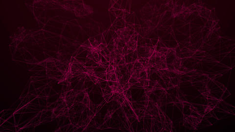 Red Plexus Background 4K CG動画素材