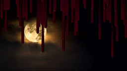 Blood dripping Halloween Footage