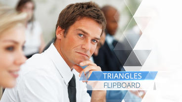 Triangle Flipboard - After Effects Template After Effectsテンプレート