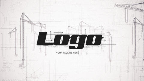 Construction Site Logo Reveal After Effects Template