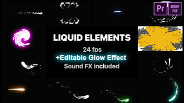 Liquid Elements And Transitions Motion Graphics Template