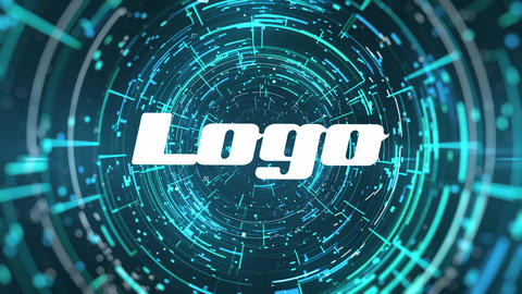 Cyber Logo Reveal After Effects Template