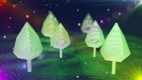 Digital tree christmas Stock Video Footage