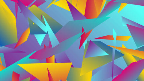 Colorful abstract low poly splinters video animation Animation