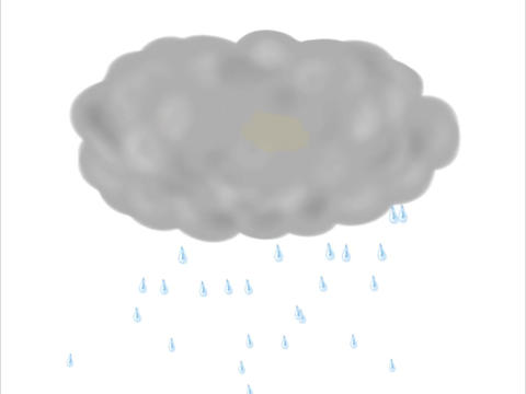 Storm Cloud Thunder Lightning Rain Drawing 2D Animation Animation