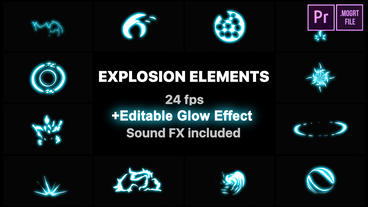 Energy Explosion Elements Motion Graphics Template