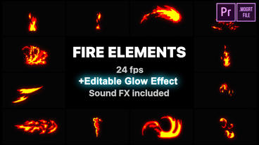 Flash FX Fire Elements Motion Graphics Template