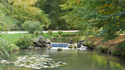 Brook at the Muskau Park. English garden on the border of Poland and Germany Live Action