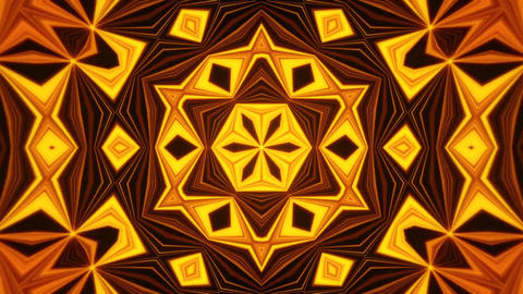 Gold Kaleidoscope Background VJ Loop Abstract Background Animation