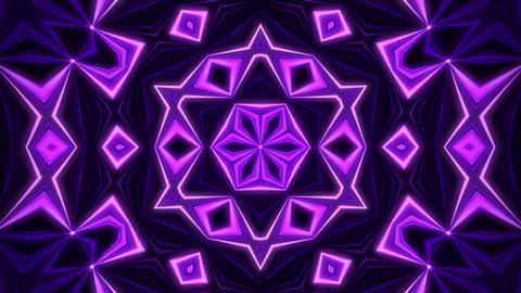 Purple Kaleidoscope Background VJ Loop Abstract Background Stock Video Footage