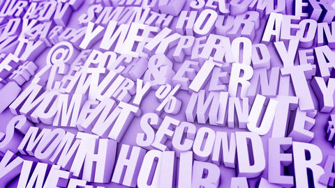 Busted Words in Light Violet Backdrop Animation