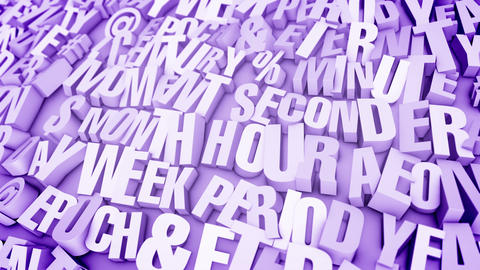 Busted Words in Light Violet Backdrop Stock Video Footage