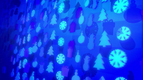 Celebratory Christmas Figures Whirling Around Animation