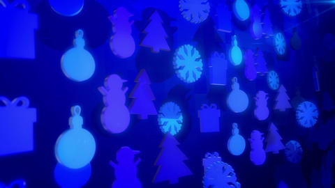 Celebratory Christmas Silouettes Spinning Up Animation