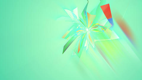 Clump of Multicolored Triangles in Salad backdrop Animation