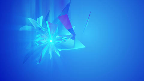 Turning Diamond Triangles in Blue Backdrop Animation