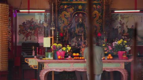 Tokong Sam Kow Tong Buddhist Temple Footage