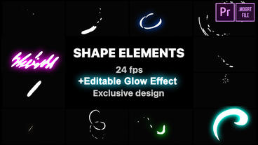Flash FX Shape Lines Motion Graphics Template