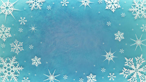 Snowflakes rotate on the ice surface. Looped animation CG動画素材