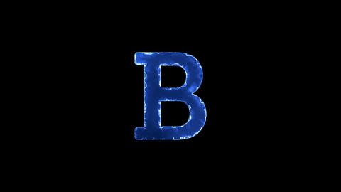 Symbol bold format. Blue Electric Glow Storm. looped video. Alpha channel black Animation