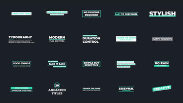 Creative Typo Motion Graphics Template