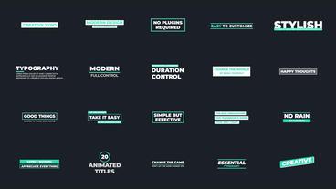 Creative Typo モーショングラフィックステンプレート