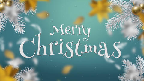 White & Gold Christmas Slideshow After Effects Template
