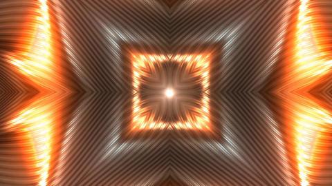 Futuristic Opening Flower Background Orange Animation