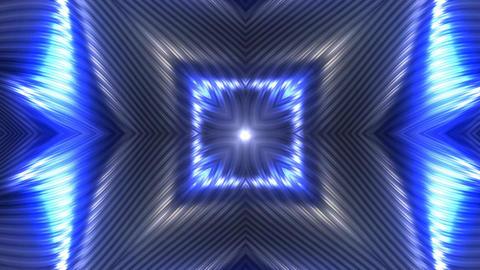 Futuristic Opening Flower Background Blue Animation
