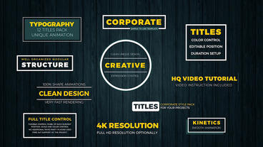 Corporate Titles Plantilla de After Effects
