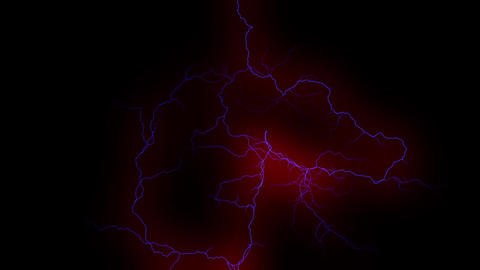 Animated lightning, thunder, hurricane, for video editing Animation