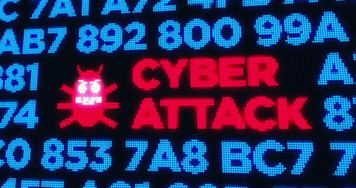 Cyber attack, computer and data security concept animation Animation