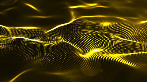 Gold wave background Animation
