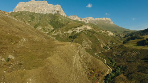 Aerial landscape view of Caucasus mountains Archivo