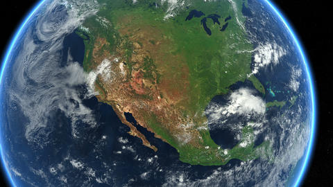 USA from space. Earth Zoom. North America, US Animation