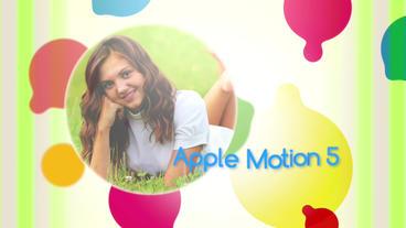 Coloured Bubbles Apple Motionテンプレート