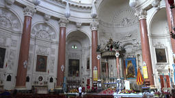 Malta Valletta interior view of famous catholic Carmelite Church 영상물