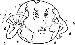 Earth Global Warming Drawing Black and White ベクター