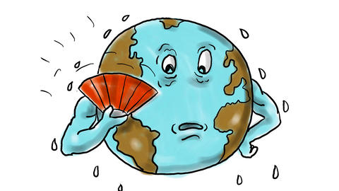 Earth Global Warming Drawing 2D Animation 애니메이션