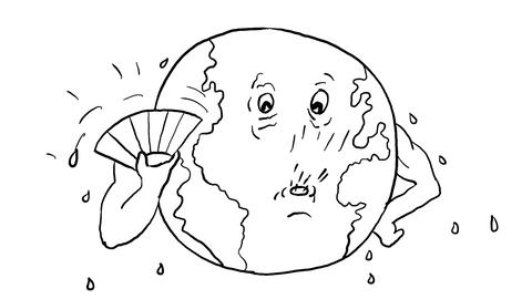 Global Warming Drawing 2D Animation Stock Video Footage