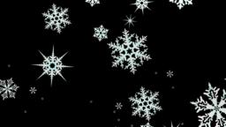 Snowflakes rotate and form a circle on a transparent background. Video with Animation