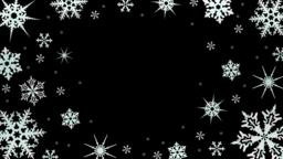Snowflakes rotate on a transparent background. Video with alpha channel. Video Animación