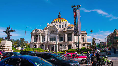 Hyperlapse of Fine Arts palace in Mexico City ビデオ