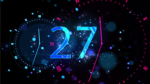 Countdown 18 2019 HAPPY NEW YEAR Animación
