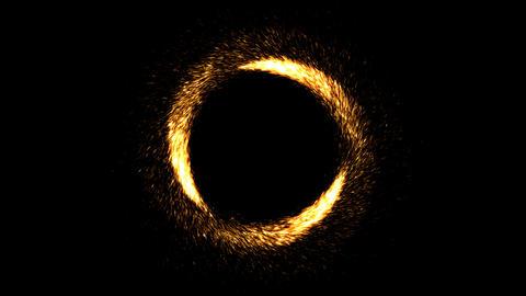 Three meteors going around. Seamless loop Animation