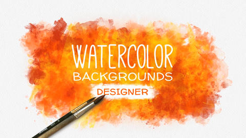 Watercolor Background Designer After Effects Template