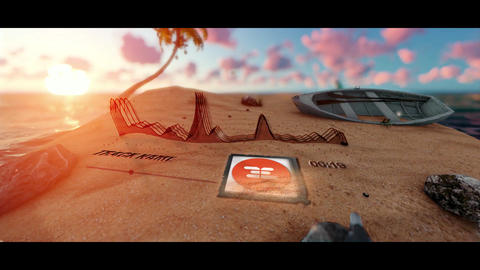 Audio spectrum beach After Effects Template