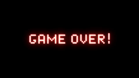 Game Over Message With Glitch Effect Stock Video Footage