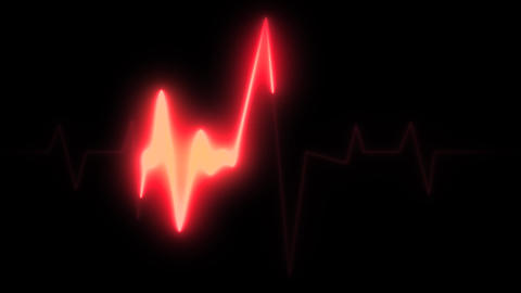 4k Medical Heart Pulsation Wave Signal Animation